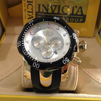 Wholesale Drop Selling - Three Eyes Working Multifunctional Sports Watches INVICTA Fashion Mens Watches Hot Selling Date Male Wristwatch Chronograph Men Drop Shippin