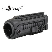 Wholesale Hand Guard M16 - Sinairsoft M4S1 Picatinny Handguard Side Rail AR15 M4 Hand Guard with Extra Rail for airsoft Carbine M16 AR15 AR rail accessories