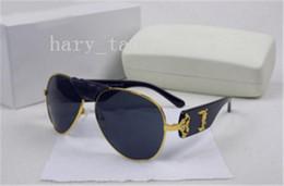 Wholesale Women Leather Fashion Coat - Italy designer men women brand sunglasses metal frame removable leather buckle Medusa vintage eyeglasses coating lens eyewear lunette 507