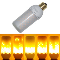 Wholesale Led Flame Effect - Meegan Flame001 LED Decorative Lights Flicker Flame Light Bulb Creative Fire Effect Bulb Decorative Lamp Bulb 110V-240V Pack of 1 Unit