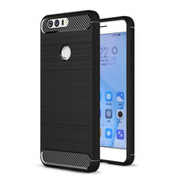 Wholesale V8 Cover - Huawei Honor 9 8 V9 V8 Note 8 Pro 7 Lite Magic GR5 2017 GT3 Case Silicone Carbon Fiber Brush Soft Phone Cover
