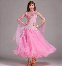 Wholesale Tango Dresses For Women - 8Color NEW modern dress diamond ballroom Waltz Tango Foxtrot Costume Costume Contest for ballroom dance dance skirt clothes 6 color MY012#