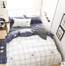 Wholesale Bedding Country Style - PASAYIONE Plaid Bedding Set Twin Queen King Size For Home Bedroon Decor Bedspread 3pcs 4pcs Bed Linen Bed Sheet Duvet Cover Set