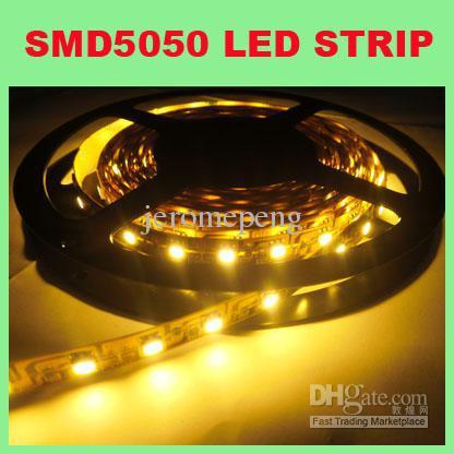 High Bright 840-960LM 5M SMD5050 300LEDs Luz de tira LED flexible RGB blanco cálido / puro / frío No impermeable, pegamento IP65, tubo IP66, IP68