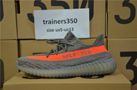 Wholesale Spring Free Shipping - DHL Free shipping 2017 Season3 SPLY 350 Boost V2 With Box 2016 Black Grey Orange Running Shoes Sneakers 350 Boost V2 woman man shoes