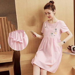 Wholesale Long Cotton Jacket For Summer - Maternity dress summer jacket short sleeves long maternity dress for maternity dress