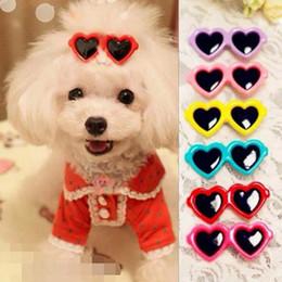 Wholesale Hair Flower Clip Supplies - New Pet Supplies Sunglasses Hairpin 2017 Fashion Colorful Hair Ornaments Dog Hair Clip Pet Head Flower Pet Accessories