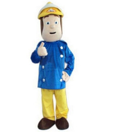 Wholesale Christmas Star Mascot - Fireman Sam Mascot Costume Firefighter Christmas Party Dress Suit Free Shipping