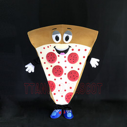 Wholesale Cool Mascot Costumes - 2017 Adult Pizza Mascot Costume Funny Emoji Fancy Dress In Christmas Cool Costume Suit For Adults