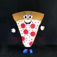 костюм для взрослых оптовых-2017 Взрослых Пицца Талисман Костюм Смешные Необычные Платья В Рождество Прохладный Костюм Костюм Для Взрослых