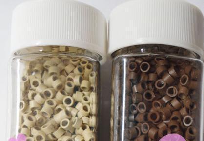 / PERLES DE MICRO-LIEN DE SILICIUM pour kit d'extension de plumes ou de cheveux