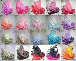 pashmina fühlen schals Rabatt Kaschmir Pashmina Silk Gefühl Schal Schal Wrap Damen Schals 2-Ton 30 Farben 35pcs / lot # 1669