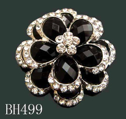 Wholesale Flowering Plants Pictures - Wholesale Women Silver plated Zinc alloy rhinestone flowers Brooches costume jewelry Free shipping 12pcs lot pictures colors BH499