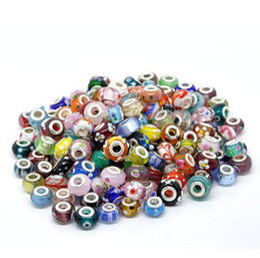 Wholesale Biagi Glass Beads - Free Shipping 1000Pcs Lampwork Glass Beads Murano Mixed European Fashion, Fit BIAGI Bracelet,Jewelry
