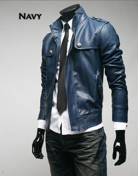 Mens military leather jacket