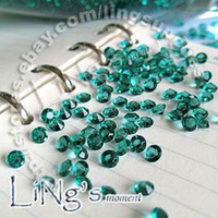 Wholesale Teal Blue Diamond Confetti - Free Shipping 1000 1 3ct 4.5mm Teal Blue diamond confetti wedding favor table scatter Decoration