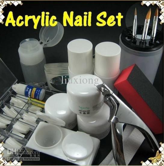 Wholesale Acrylic Nail Art Professional Full Kit Set Powder Tips Acrylic Nail Powder Acrylic