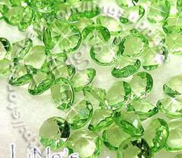 Wholesale Wholesale Green Diamond Confetti - Free Shipping 1000pcs 4Carat 10mm Lime Green diamond confetti wedding favor table scatter