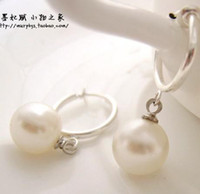 Wholesale Real Sea Pearl Earring - real white South Sea Mabe Pearls earrings