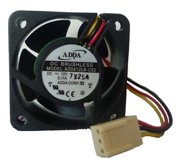 top popular ADDA 4020 DC 12V 0.11A AD0412LB-C52 Cooling fan Wholesale and retail cpu cooler heatsink 2021