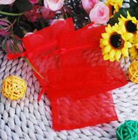 Wholesale Mixed Jewlry - Organza Jewlry Pouch Organza bag Jewelry bag Gift bag mixed colors 8x12cm