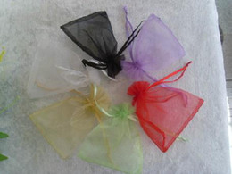 Wholesale Wholesale Discount Gift Bags - Discount Wedding Gift Bags Gift Pouch Candy Bag Drawstring Silk Gift Packaging Bags 8x10cm 3x4inch