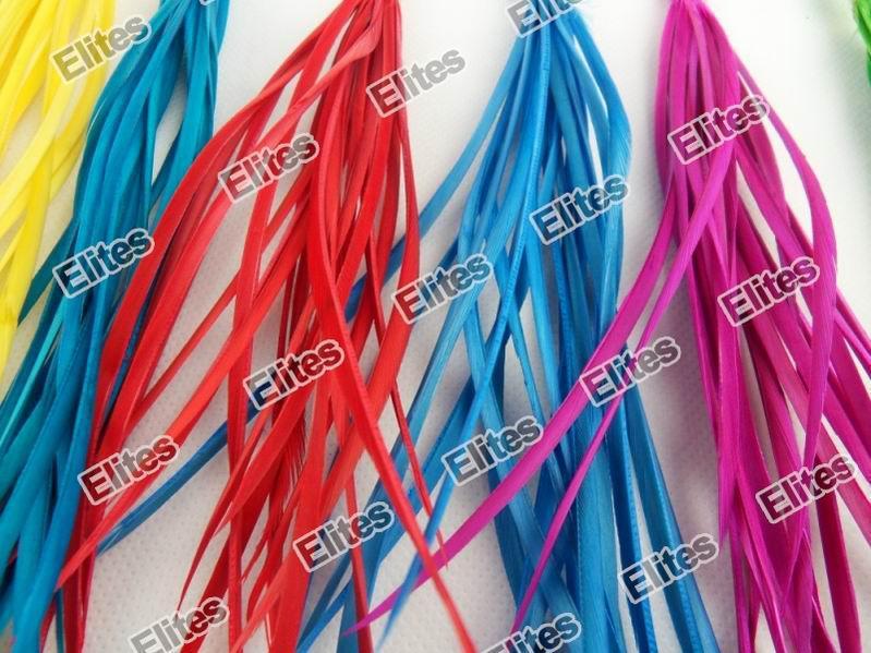 Rozbudowa gęsi pióra Real Feather Hair Extension Extensions 100 Pióra + 100 Koraliki SGF007