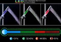 led shower ABS LED Color Changing Shower Head (Geyser Design),