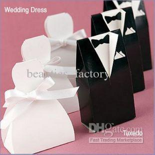 bride groom candy box wedding bridal favor gift boxes gown tuxedo New