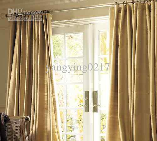 2019 Pottery Barn Silk Dupioni Drapes Clay 50 X 96 From