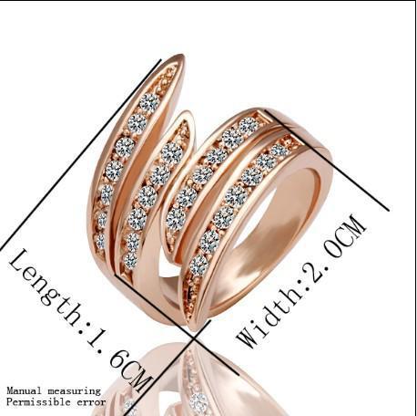 I regali di Natale dei monili dell'anello del diamante dell'oro di rosa 18K di migliore vendita liberano il trasporto 10piece / lot