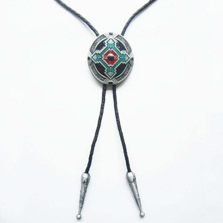 도매 소매 Bolo 타이 원래 디자인 켈트 크로스 매듭 타원형 웨딩 목걸이 Bolo 타이 무료 배송
