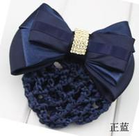 Wholesale Hair Clip Snood Net - Vocation bowknot barrette hairpin alligator clip  Snood Net   hair clip with artificial diamonds
