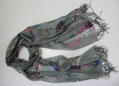 最新の女性春夏の長い印刷スカーフポンチョスラップスカーフトップセールショール24ピース/ロット#1380
