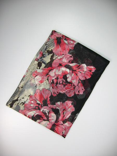 Mesdames longue 100% soie impression polyster Foulard ponchos wrap foulards Vente TOP châles / # 1382