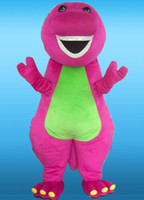 Wholesale Plush Costumes For Adults - wholesale good quality customized adult size pink plush barney mascot costumes for party free shipping best after sale service