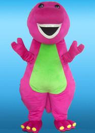 anime zorro de peluche Rebajas Venta al por mayor de buena calidad tamaño adulto color rosa felpa trajes de la mascota de barney para el envío libre del partido mejor servicio post-venta