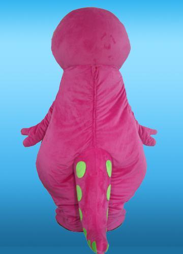 Groothandel goede kwaliteit aangepaste volwassen grootte roze pluche barney mascotte kostuums voor feest gratis verzending beste na verkoop service