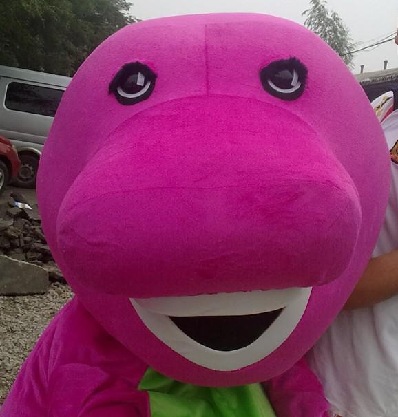 Hurtownia Dobrej Jakości Dostosowany Rozmiar dla dorosłych Różowy Pluszowy Barney Maskotki Kostiumy na imprezę Darmowa Wysyłka Najlepsze po sprzedaży