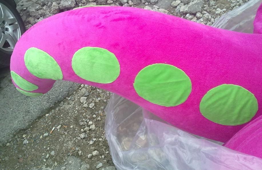 Plüschbarney-Maskottchenkostüme der erwachsenen Größe rosafarbenen Plüschkostüme für freies Verschiffen der Partei bester Nachverkaufservice