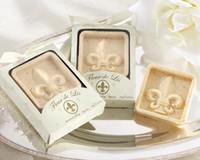 """Wholesale Wholesale Christmas Favors - 10 Pcs """"Fleur de Lis"""" Scented Soap Wedding Favors Iris Christmas Gift New"""