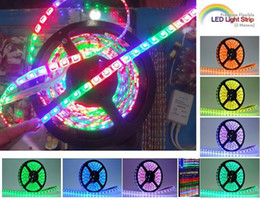 Wholesale Horse Race Rgb Led - Dream Color 5050 RGB SMD Horse Race Lamp Led Strip Flexible Waterproof + Controller+Supply