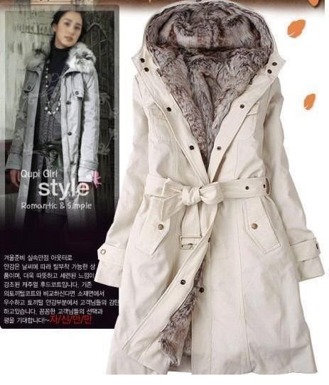 2017 Hot Sale Faux Fur Lining Women'S Fur Coats Winter Warm Long ...