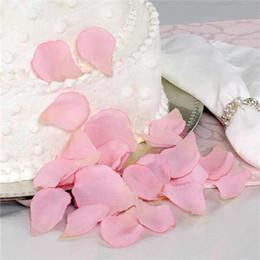 Wholesale Party Bag Favours - Pink Silk Rose Petals Wedding Favour Party Decoration Flower Decor 10 Bags (100 pcs per bag)