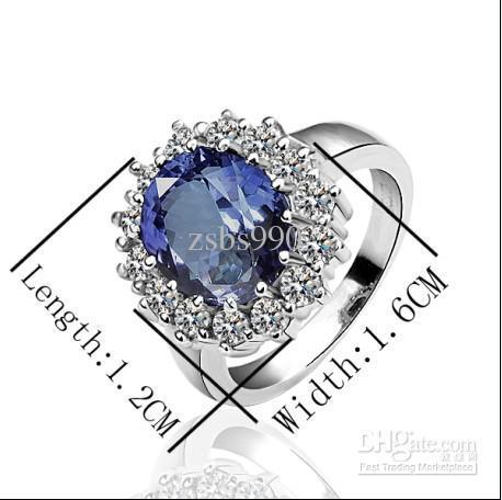 Hot New Engagement Prince William Sapphire Ring Darmowa Wysyłka 10piece / Lot
