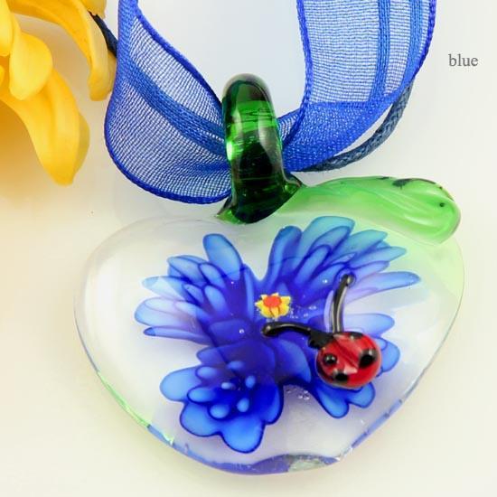 Classique pomme cravate italienne vénitien au chalumeau soufflé pendentifs en verre de murano pour colliers bijoux bijoux de mode collier Mup083