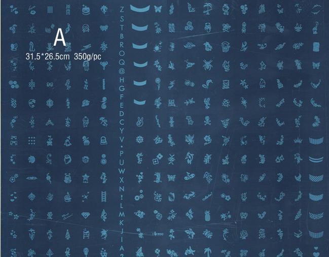 5 X NEW 대형 네일 스탬프 스탬프 이미지 판