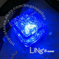 Wholesale Lowest Price Christmas Decorations - Hot Item--Lowest price-free shipping-Dark Blue LED Ice Cube Light Wedding Party Christmas Decoration