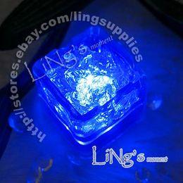 Wholesale Ice Cube Light Free Shipping - Hot Item--Lowest price-free shipping-Dark Blue LED Ice Cube Light Wedding Party Christmas Decoration