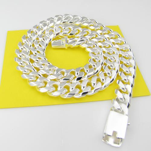 Collar de hombre al por mayor. Collar de hombre de plata 925 10 mm 20 pulgadas
